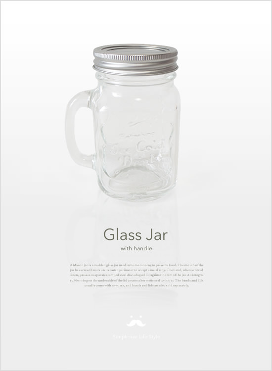 DULTON GLASS JAR with HANDLE - Image