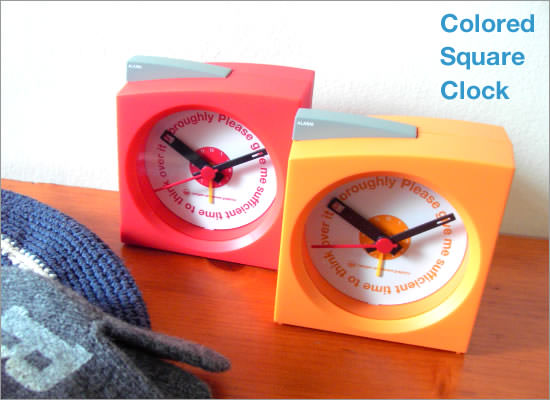 Colord Square Clock - Image