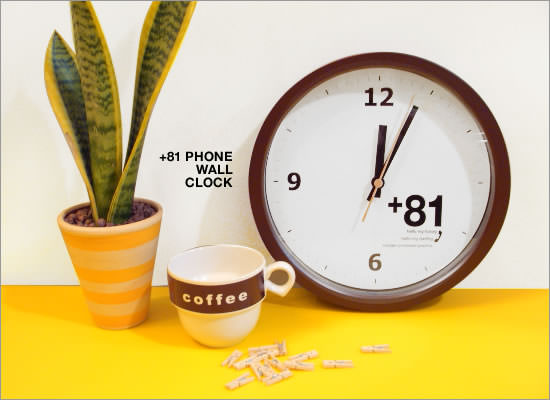 +81 Phone Wall Clock - Image