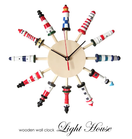 Lighthouse clock :  lighthouse clock home furnishings wall clock