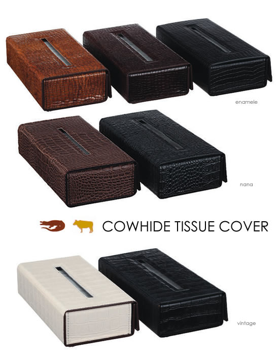 COWHIDE ティッシュカバー - Image