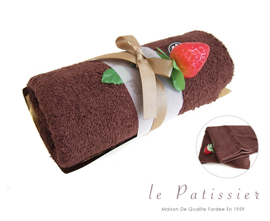 Le Patissier チョコレートロールケーキタオル(トップイメージ:1)