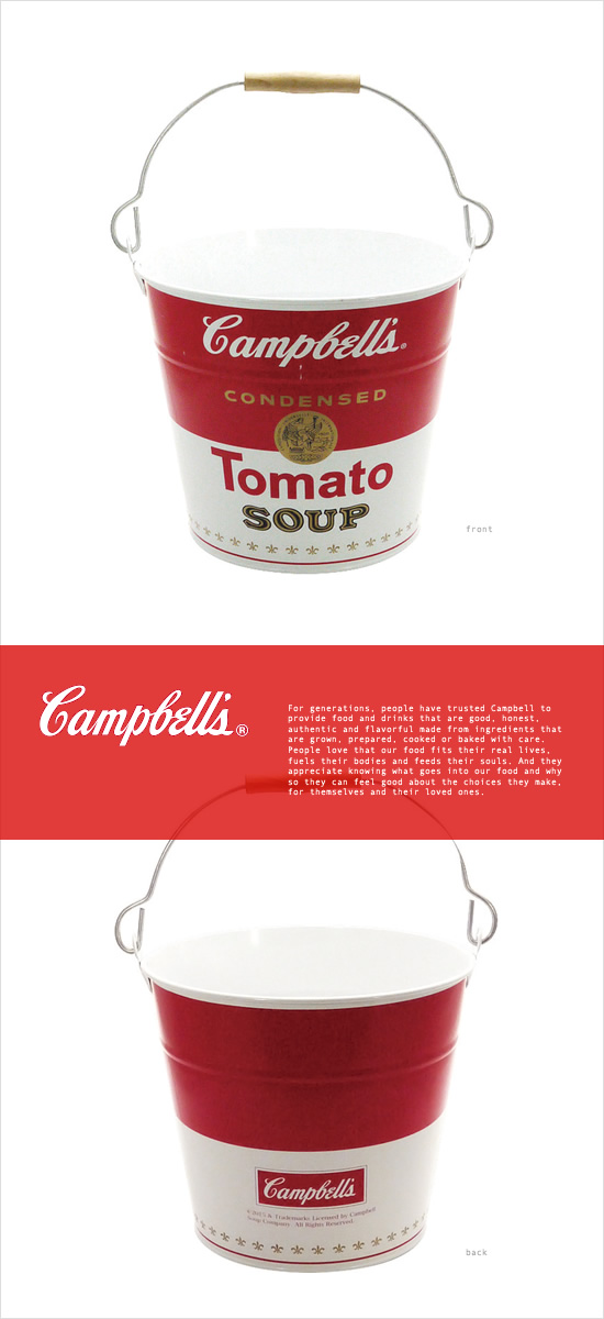 Campbell's スチールバケツ Soup Can - Image