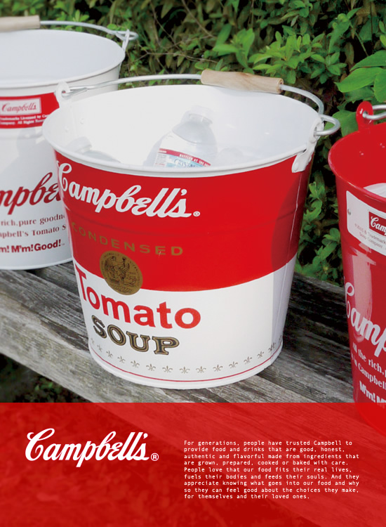 Campbell's スチールバケツ Soup Can(トップイメージ:1)
