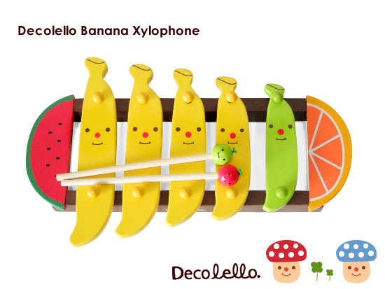 Decolello Banana Fruit Xylophone