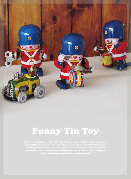 ブリキトイ Funny Tin Toy - Image